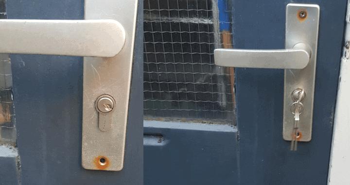 sleutel afgebroken in het slot